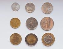 Moneda de la lira italiana Imagen de archivo libre de regalías