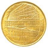 moneda de la lira italiana 200 Imagen de archivo