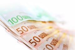 Moneda de la unión europea Imágenes de archivo libres de regalías
