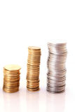 Moneda de las finanzas imágenes de archivo libres de regalías