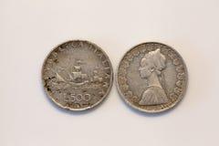 Moneda de las liras de Cinquecento Foto de archivo libre de regalías
