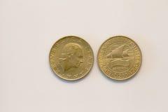 Moneda de las liras de Duecento Imagenes de archivo