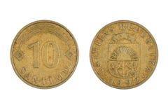 Moneda de Letonia Fotos de archivo libres de regalías