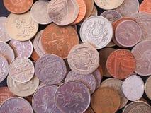 Moneda de libra BRITÁNICA Fotografía de archivo libre de regalías