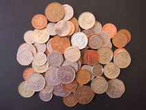 Moneda de libra BRITÁNICA Fotografía de archivo