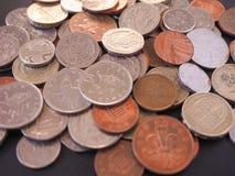 Moneda de libra BRITÁNICA Fotos de archivo