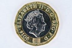 Moneda de libra BRITÁNICA Imagenes de archivo
