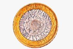 Moneda de libra dos Fotografía de archivo libre de regalías