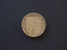 moneda de 1 libra, Reino Unido Foto de archivo libre de regalías