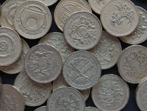 moneda de 1 libra, Reino Unido Imagenes de archivo