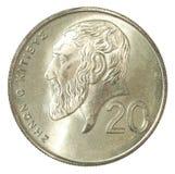 Moneda de los centavos de Chipre Imágenes de archivo libres de regalías