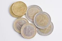 Moneda de los euros Imágenes de archivo libres de regalías