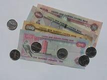Moneda de los UAE foto de archivo