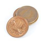Moneda de los yenes japoneses Foto de archivo libre de regalías