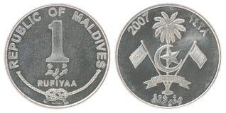 Moneda de maldivo Rufiyaa Fotografía de archivo libre de regalías