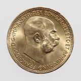 Moneda de oro Imagenes de archivo