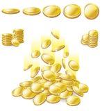 Moneda de oro Imágenes de archivo libres de regalías