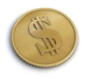 Moneda de oro fotografía de archivo