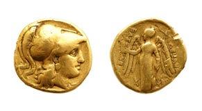 Moneda de oro antigua Fotografía de archivo libre de regalías