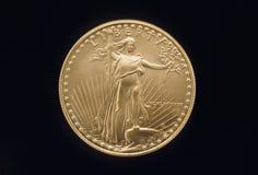 Moneda de oro de la libertad Fotografía de archivo
