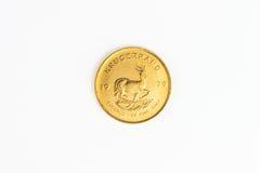 Moneda de oro de 1 onza - una moneda de oro de Krugerrand Foto de archivo libre de regalías