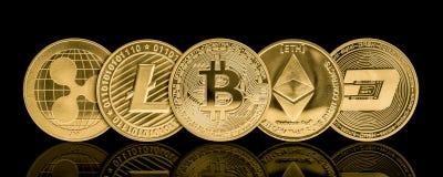 Moneda de oro del cryptocurrency imagen de archivo libre de regalías