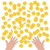 Moneda de oro en un fondo blanco Imagenes de archivo