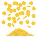 Moneda de oro Moneda de oro aislada en un fondo blanco Fotografía de archivo libre de regalías