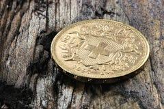 Moneda de oro suiza 01 Foto de archivo libre de regalías