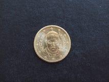 Moneda de papa Francisco I Fotos de archivo libres de regalías