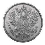 Moneda de plata, 1914 Foto de archivo libre de regalías
