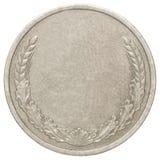 Moneda de plata en blanco