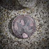 Moneda de plata de Monero Foto de archivo libre de regalías