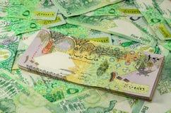 Moneda de Qatar Imagen de archivo libre de regalías