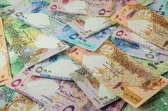 Moneda de Qatar Foto de archivo libre de regalías