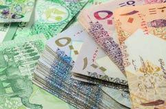 Moneda de Qatar Imágenes de archivo libres de regalías