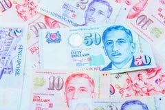 Moneda de Singapur del dólar Fotografía de archivo libre de regalías