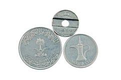 Moneda de United Arab Emirates y de Israel Fotos de archivo