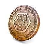 Moneda de Xyo - de Cryptocurrency representación 3d Imagen de archivo libre de regalías