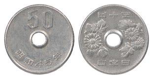 moneda de 50 yenes fotos de archivo libres de regalías