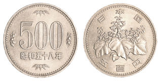 moneda de 500 yenes japoneses fotos de archivo libres de regalías