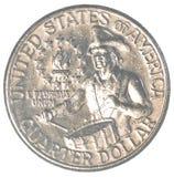 Moneda del americano un cuarto Imagen de archivo libre de regalías