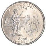 Moneda del americano un cuarto Foto de archivo libre de regalías