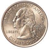 Moneda del americano un cuarto Imagen de archivo