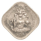 moneda del centavo de 15 bahamian Fotografía de archivo