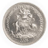 moneda del centavo de 25 bahamian Foto de archivo libre de regalías