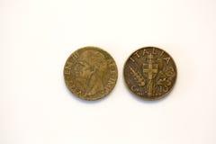 Moneda del centavo de la lira Imagen de archivo