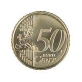 Moneda del centavo del euro cincuenta Foto de archivo libre de regalías