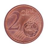 Moneda del centavo del euro dos Imágenes de archivo libres de regalías