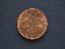 Moneda del centavo euro 2 de Eslovaquia Imagen de archivo